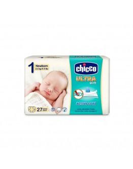 CHICCO ULTRA SOFT NEWBORN PANNOLINO TAGLIA 1 2-5KG 27 PEZZI