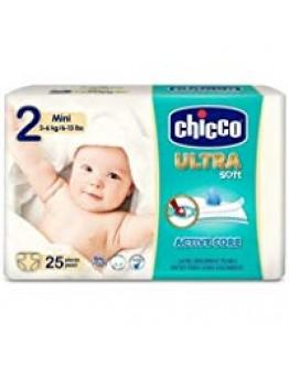CHICCO ULTRA SOFT MINI PANNOLINO TAGLIA 2 3-6KG 25 PEZZI