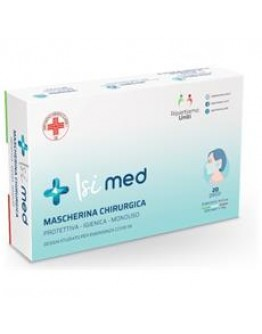 ISI MED MASCHERINA CHIRURGICA 100% made in italy 20 pezzi Dispositivo medico Classe1