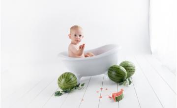 Istruzioni per l'uso: bagnetto per neonati