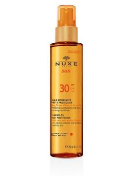 NUXE SUN HUILE BRONZANTE OLIO SOLARE VISO & CORPO SPF30 150ML