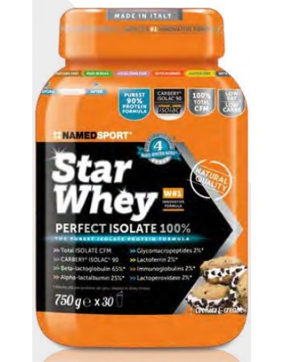 NAMED SPORT STAR WHEY COOKIES & CREAM INTEGRATORE A BASE DI PROTEINE DEL SIERO DEL LATTE ISOLATE 750G